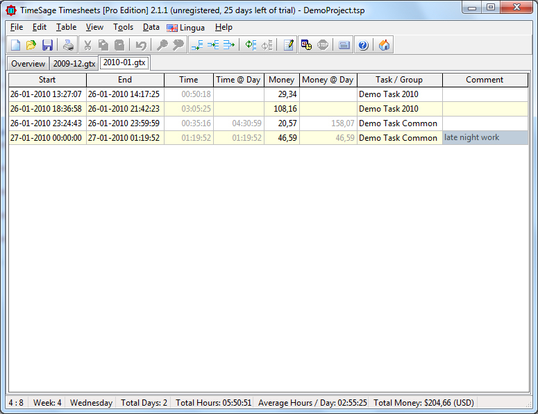 TimeSage Timesheets