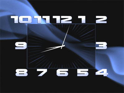 Box Clock Screensaver