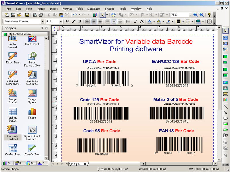 SmartVizor Variable Barcode Batch Printing Software