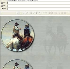 American Cowboy Email Stationery