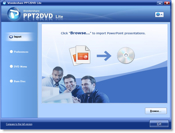 Wondershare PPT2DVD Lite