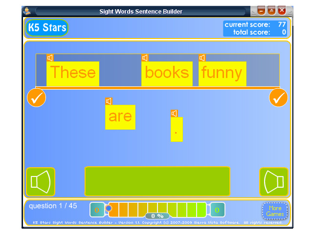 Sight Words Sentence Builder