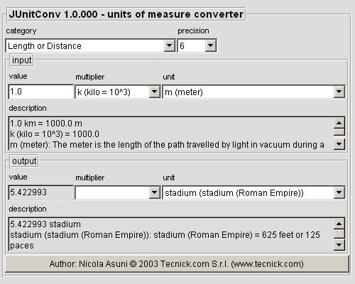 JUnitConv – Units Of Measure Converter