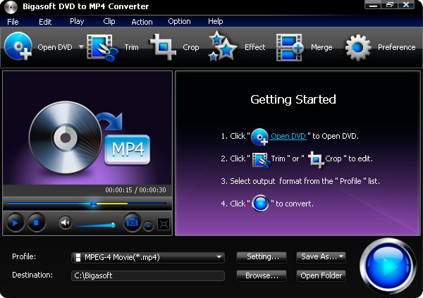 Bigasoft DVD to MP4 Converter