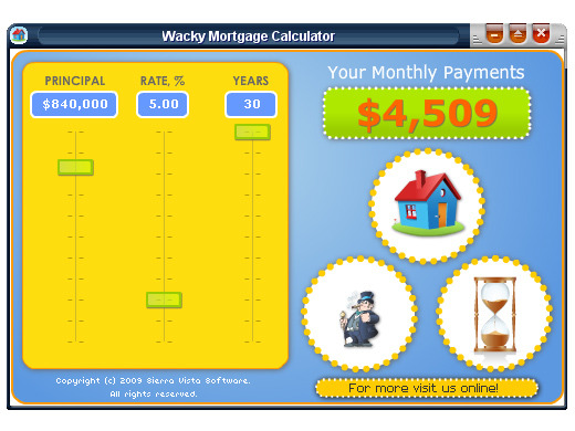 Wacky Mortgage Calculator