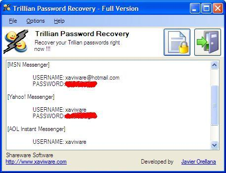 Trillian and Trillian Astra Password Recovery