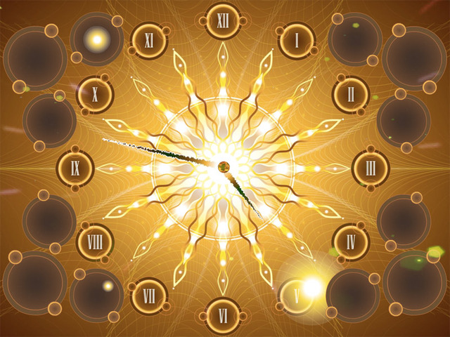 Fractal Sun Clock screensaver