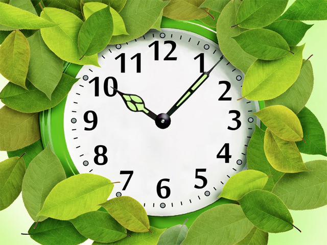 7art Foliage Clock screensaver