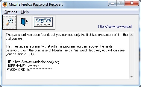 Mozilla Firefox Password Recovery