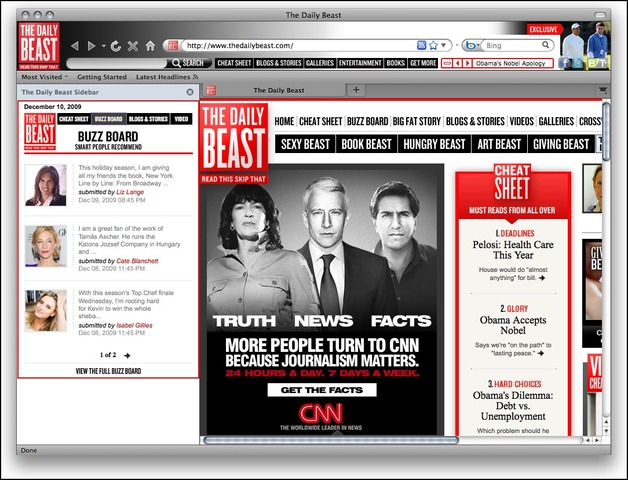 The Daily Beast Firefox Theme