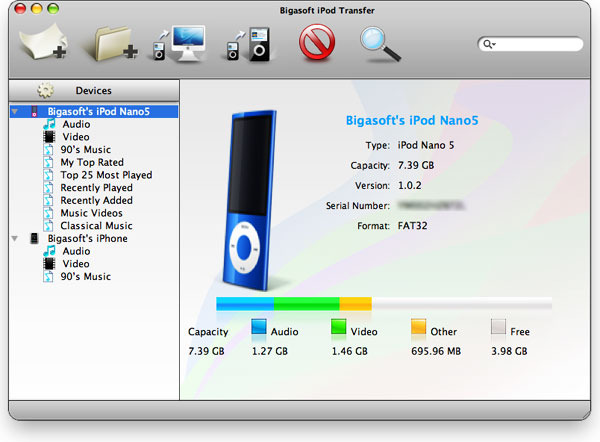 Bigasoft iPod Transfer for Mac