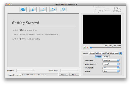 SnowFox DVD to iPod Converter for Mac