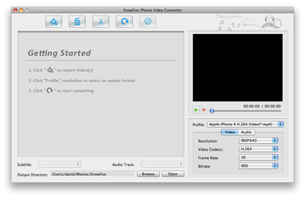SnowFox iPhone Video Converter for Mac