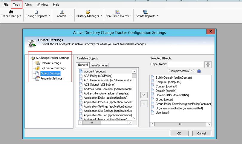 Active Directory Change Tracker