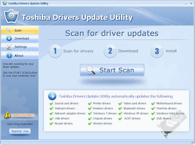 Toshiba Drivers Update Utility For Windows 7 64 bit