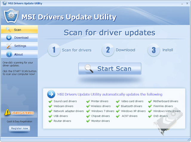 MSI Drivers Update Utility For Windows 7 64 bit