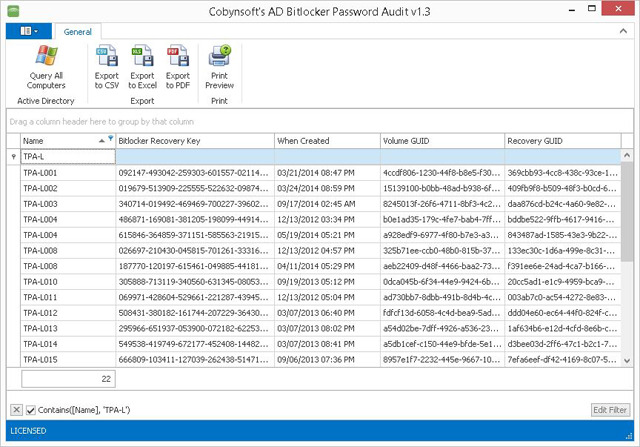 Cobynsofts AD Bitlocker Password Audit