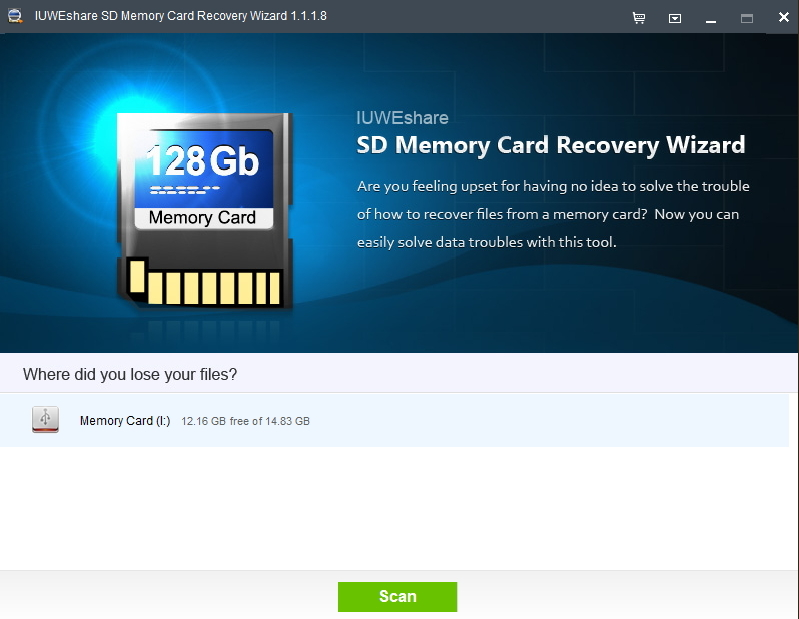 IUWEshare SD Memory Card Recovery Wizard