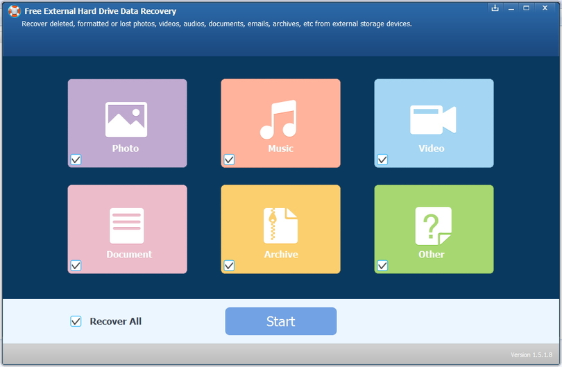 Free External Hard Drive Data Recovery
