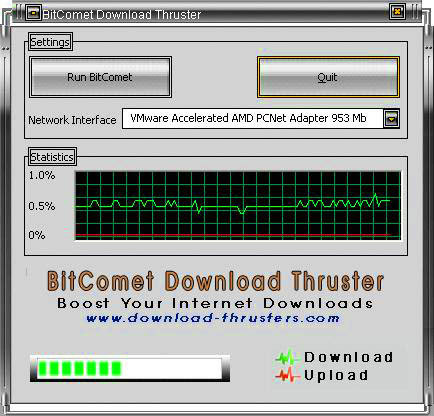 BitComet Download Thruster