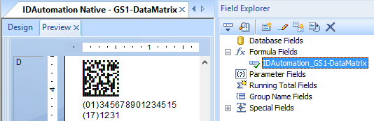 DataMatrix Generator for Crystal Reports