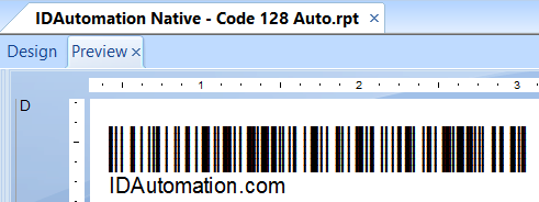 Native Crystal Reports Code 128 Barcode
