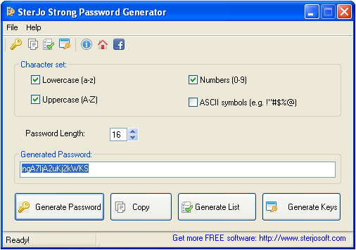 SterJo Strong Password Generator