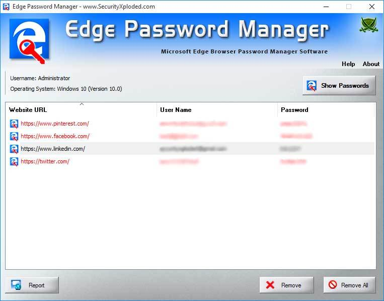 Password Manager for Microsoft Edge