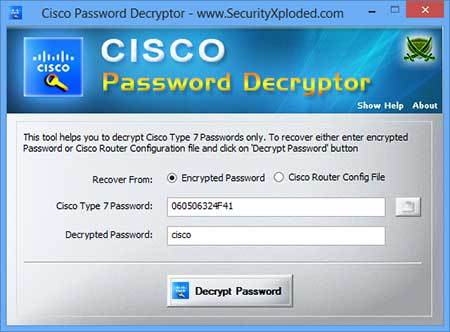 Password Decryptor for Cisco