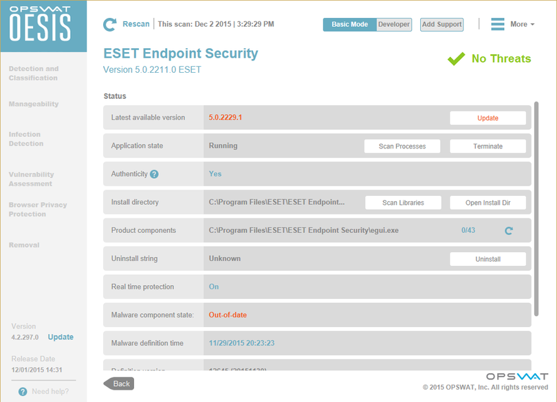OESIS Endpoint Assessment Tool