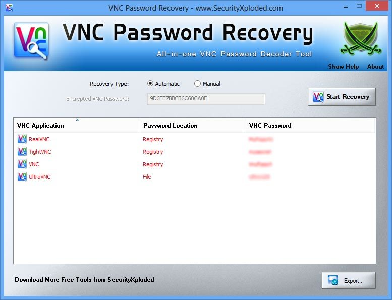 VNC Password Recovery