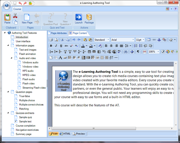 e-Learning Authoring Tool