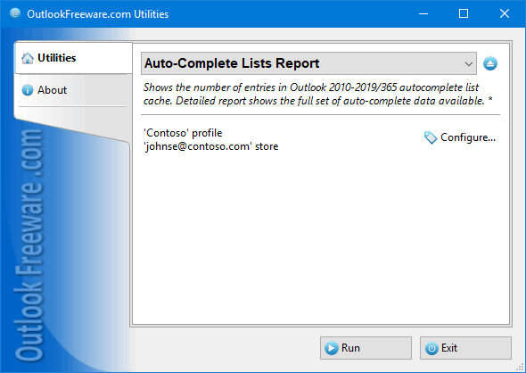 Auto-Complete Lists Report