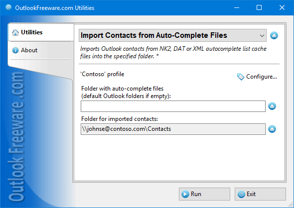 Import Contacts from Auto-Complete Files