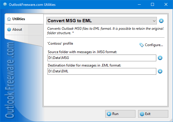 Convert Outlook MSG to EML Files