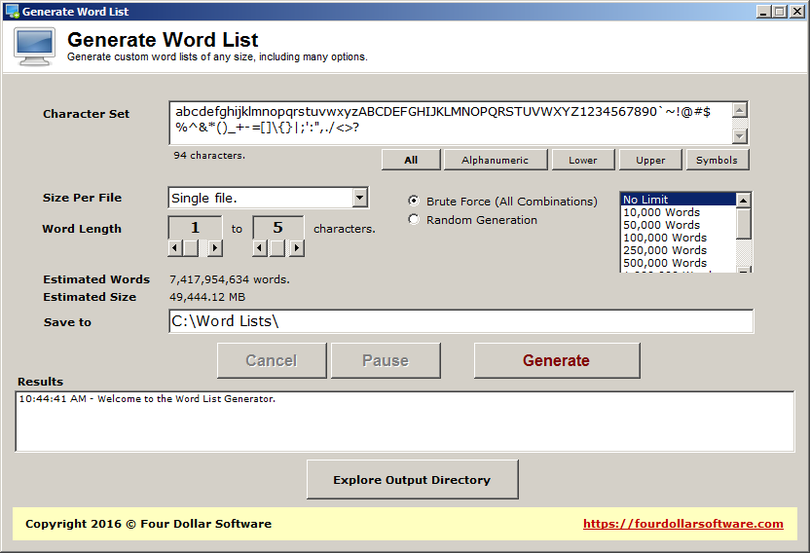 Generate Word List