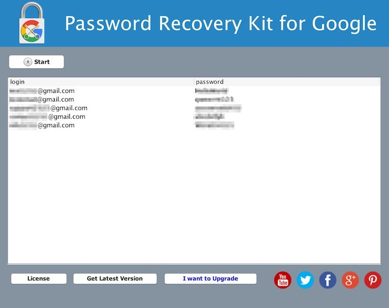 Password Recovery Kit for Google