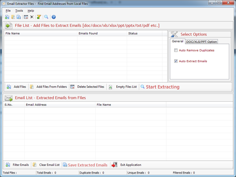 Email Extractor Files Software