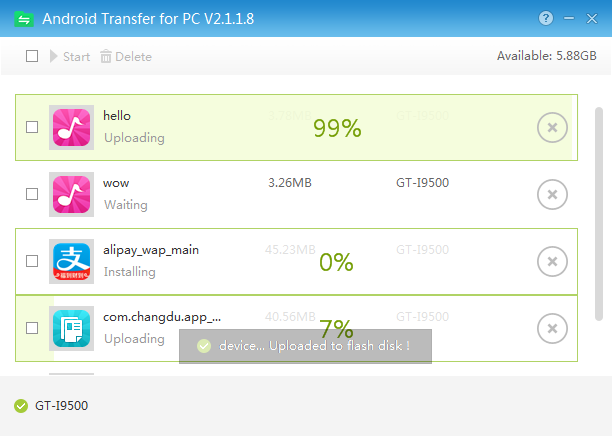 MoboLot for Android Transfer