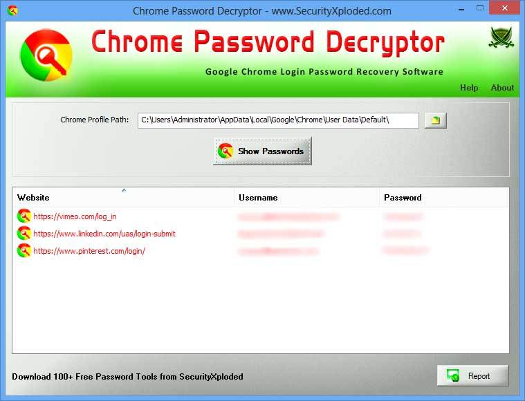 Password Decryptor for Google Chrome
