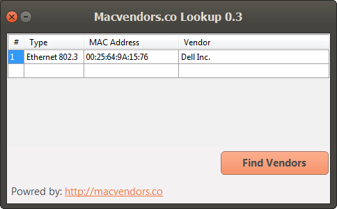 Macvendors.co Lookup