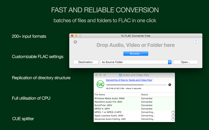 To FLAC Converter Free for Mac