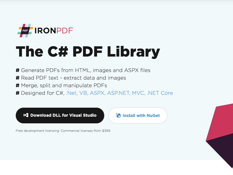 The C# PDF Library