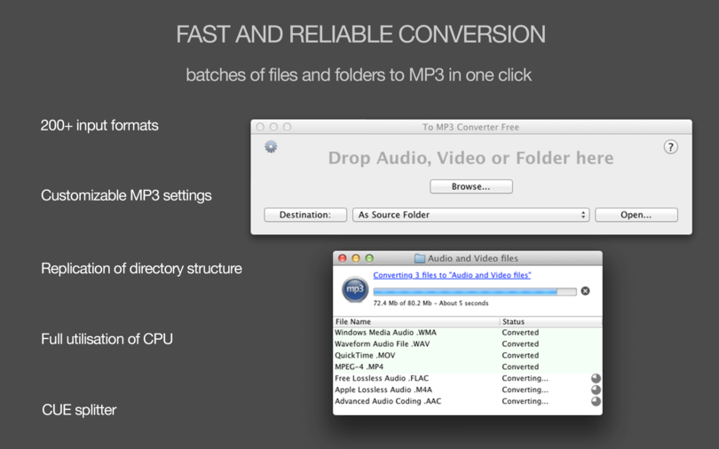 To MP3 Converter Free for Mac OS X