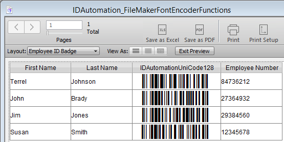 FileMaker Pro Barcode Custom Functions