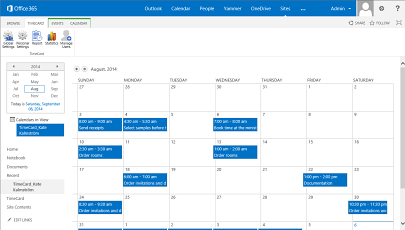 TimeCard for SharePoint