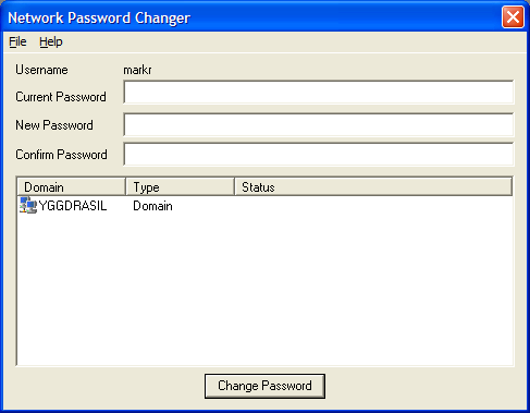 Network Password Changer