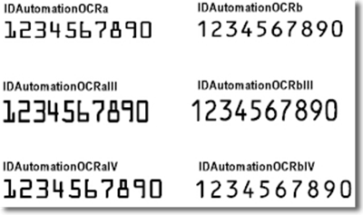 IDAutomation OCR Font Advantage Package