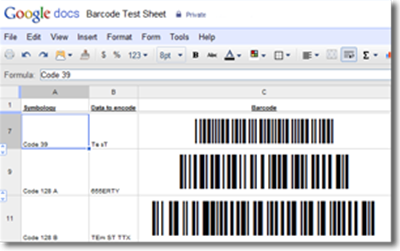 Barcode Generator for Google Docs