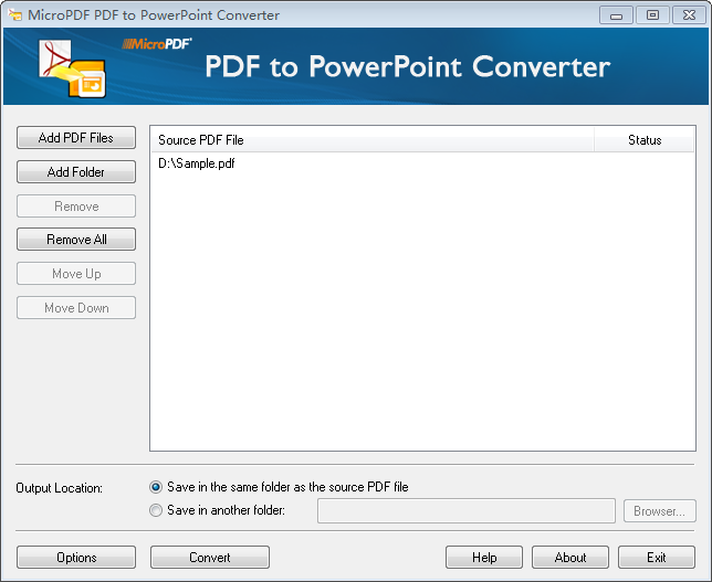 MicroPDF PDF to PowerPoint Converter